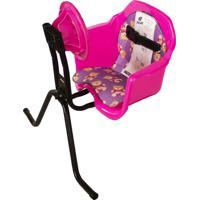 Cadeirinha Bicicleta Luxo Toy Volante Dianteira Pink Pojda