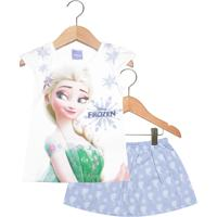 Conjunto 2Pçs Brandili Elsa Frozen Infantil Branco/Azul