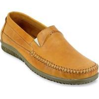 Sapato Mocassim Masculino Casual Enviamix Em Couro - Masculino