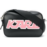 Karl Lagerfeld Bolsa Tiracolo 'Sporty' De Couro - Preto
