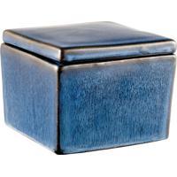 Caixa Quadrada Pond 12 Cm Azul