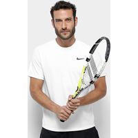 Camiseta Nike Dry Top Ss Masculina - Masculino-Branco+Preto