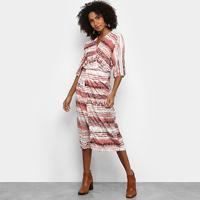 Vestido Acostamento Midi Estampado - Feminino-Estampado