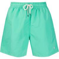 Polo Ralph Lauren Short De Natação Com Logo Bordado - Verde
