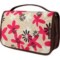 Necessaire De Viagem Estampada Jacki Design Miss Douce Marrom Floral