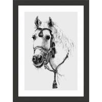 Quadro Decorativo Com Moldura Cavalo Ii Preto