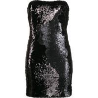 Dondup Vestido Mini Com Paetês - Preto