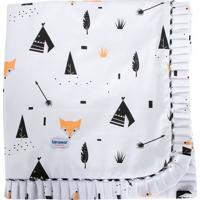 Manta Para Berã§O Fox- Branca & Preta- 75X85Cm- Bbiramar