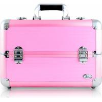 Maleta De Maquiagem Profissional Vazia Jacki Design Grande Rosa - Kanui