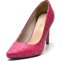 Scarpin Bico Fino Fandarello Pink - Rosa - Feminino - Dafiti