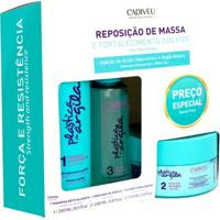 Cadiveu Plástica De Argila Reposição De Massa Kit - Shampoo + Máscara De Argila + Fluido Kit - Unissex-Incolor