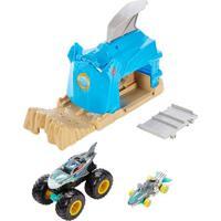 Lançador E Mini Veículo - Hot Wheels - Monster Trucks - Team Shark Wreak Gky01