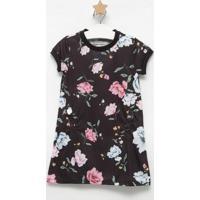 Vestido Floral- Preto & Rosa- Sweet Lemonsweet Lemon