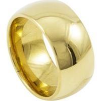 Aliança De Tungstênio New Tungsten 10Mm Tradicional Gold - Unissex-Dourado