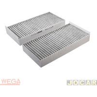 Filtro Da Cabine - Wega Filtros - Bmw X1 20I 2.0 16V Active Flex Turbo (F48/S Drive/Gp/Top) - Carvão Ativado - Cada (Unidade) - Akx1593/C