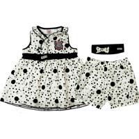 Vestido Bebê Com Shorts E Tiara Do Corinthians