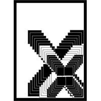 Quadro Com Moldura Ilusão Branco E Preto (33X24)