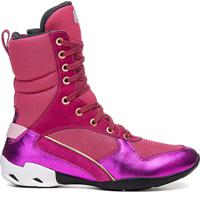 Bota De Treino Masculina Rockfit Cutler Em Couro Pink