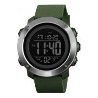 Relógio Skmei Masculino -1435- Verde E Prata