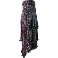 Givenchy Vestido Tomara Que Caia Com Estampa Floral - Preto