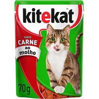 Ração Para Gatos Kitekat Sabor Carne Ao Molho Sachê 70G