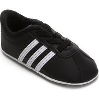 Tênis Infantil Adidas Vl Court 20 Crib - Unissex-Preto+Branco