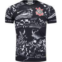 Camisa Do Corinthians Iii Invasões 2019 Nike - Jogador - Preto/Branco