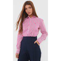 Camisa Polo Ralph Lauren Reta Classic Listrada Branca/Rosa