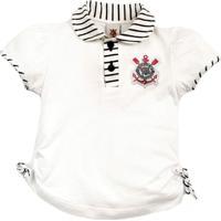 Camiseta Polo Infantil Do Corinthians Menina