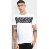 Camiseta Hd Skull Masculina - Masculino-Branco