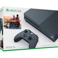 Console Xbox One S 500Gb Preto Bundle Jogo Battlefield 1