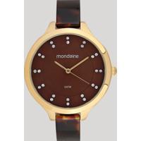 Relógio Analógico Mondaine Feminino - 53614Lpmvdf1 Marrom