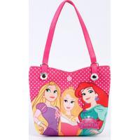 Bolsa Infantil Estampa Princesas Disney