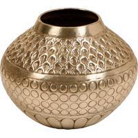 Vaso Decorativo De Metal Alpaca Doha Pequeno