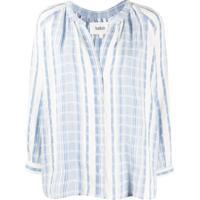 Ba&Sh Blusa De Algodão - Azul