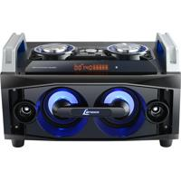 Mini Hi-Fi System 120W Rms - Lenoxx Com Bluetooth, Rádio Fm, Mp3, Karaoke, Entrada Usb, Auxiliar E Sd Card - Ms8300 Preto/Azul