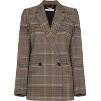 Givenchy Jaqueta Xadrez Com Botões Duplos - Marrom