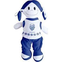 Boneca Mascote Do Csa - Torcida Baby - Unissex-Azul+Branco