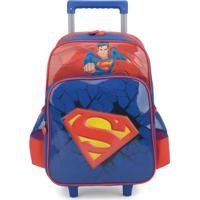 Mochilete Infantil Superman Luxcel Masculino - Masculino-Vermelho+Azul