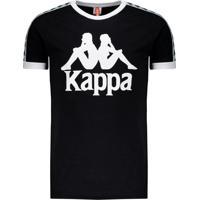 Camiseta Kappa Authentic Due Due Logo Preta