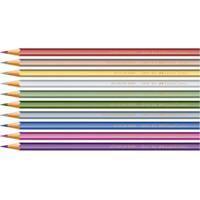 Lápis Preto - Nº 2B - Ecolápis Cores Metalizadas Sortidas - 10 Unidades - Faber-Castell