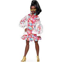 Barbie Bmr1959 Negra Com Jaqueta Transparente - Mattel - Kanui