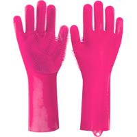 Luva Silicone Thata Esportes Lava Louça Anti Térmica Rosa