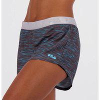 Shorts Fila Training Elastic Ii Feminino Preto E Azul