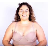 Sutiã Bojo Plus Size Gatria Reforçado Satin Feminino - Feminino-Bege