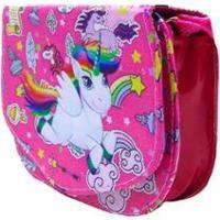 Bolsa Infantil Via Luna Unicornio Divertida Feminina - Feminino-Rosa