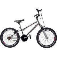 Bicicleta Ultra Cross Bmx Aro 20 Garfo De Suspensão V-Break Cromada - Unissex