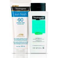 Kit Neutrogena Protetor Solar Corporal Sun Fresh Fps90 200Ml + Loção Hidratante Corporal Body Care Naturals 200Ml