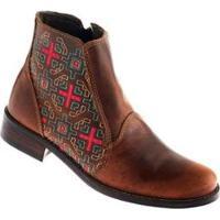 Bota Country Garrutti Boots Bico Redondo Zíper Feminina - Feminino
