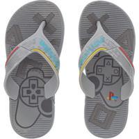 Chinelo Infantil Playstation Ps4 Super Flo Cinza